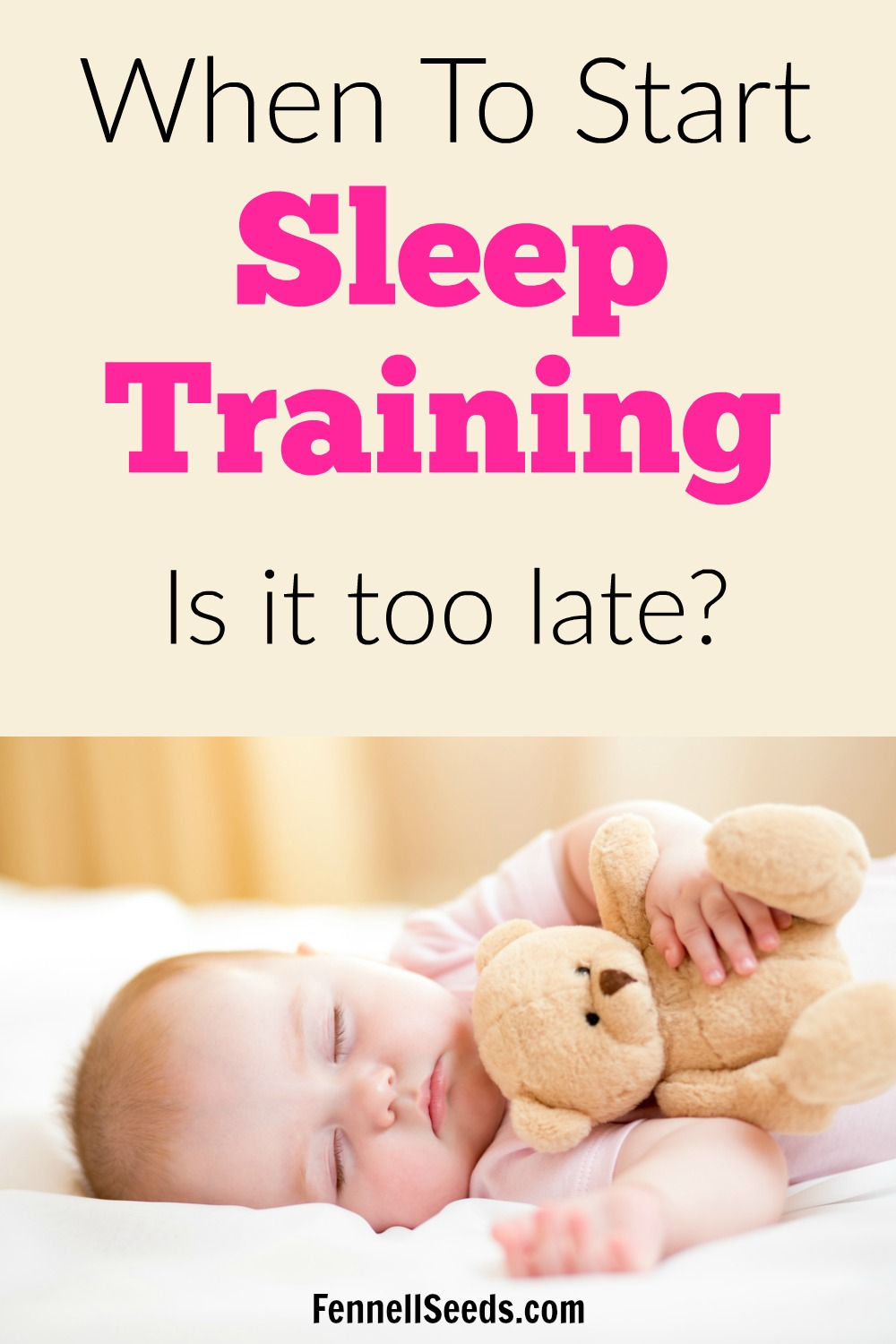 when to start sleep training baby