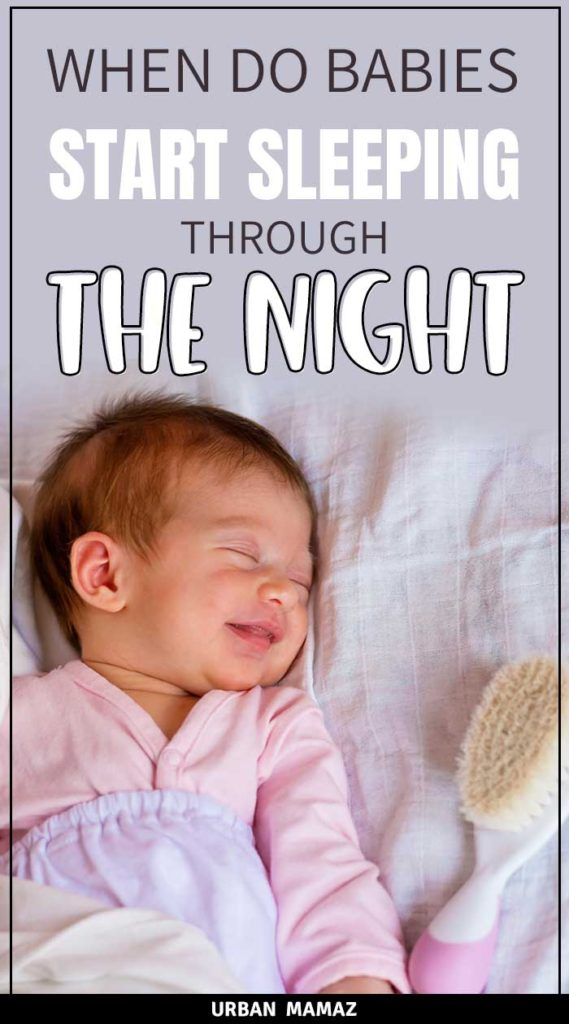 what age do babies start sleeping through the night