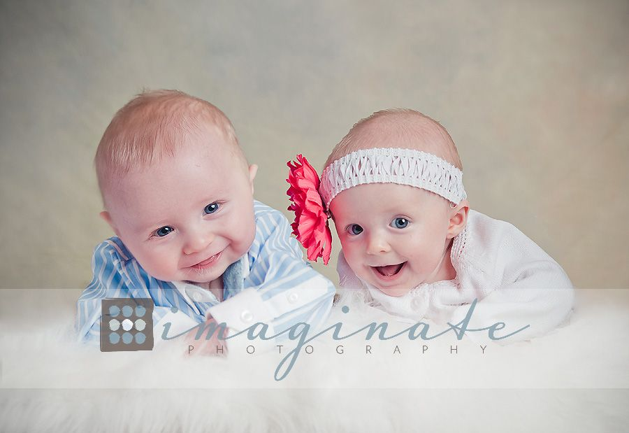 4 month old baby boy and girl